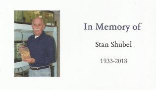 In memory of Stan Shubel
